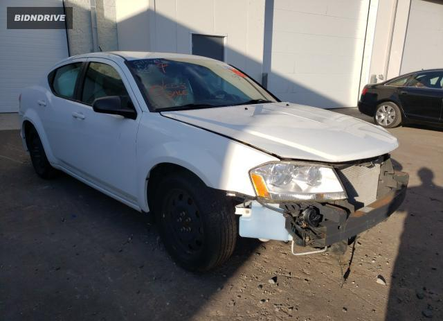 Lot #1593239265 2014 DODGE AVENGER SE salvage car