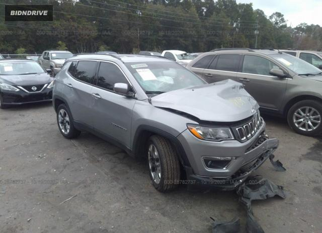 Lot #1607176738 2020 JEEP COMPASS LIMITED salvage car