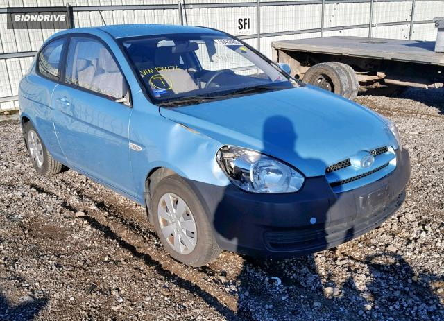 Lot #1607322238 2010 HYUNDAI ACCENT BLU salvage car