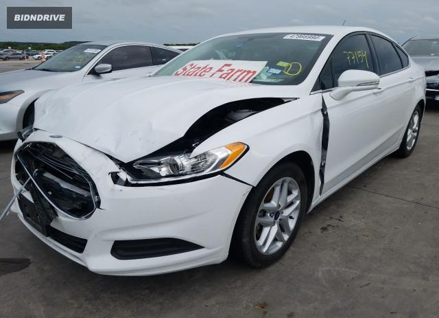 Lot #1608350760 2016 FORD FUSION SE salvage car