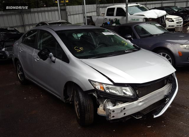 Lot #1610340102 2015 HONDA CIVIC SE salvage car