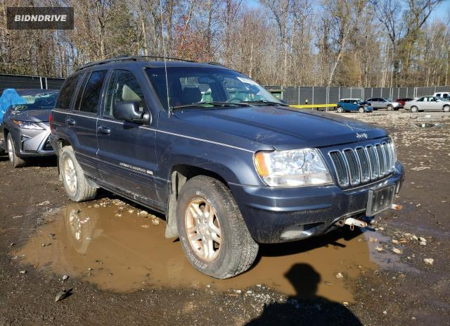 Lot #1611357668 2002 JEEP GRAND CHER salvage car