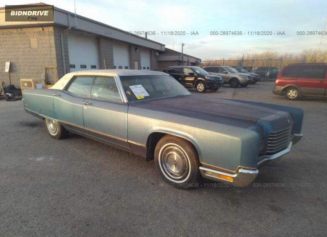Lot #1611837980 1971 LINCOLN TOWNHOUSE CONTINENTAL salvage car