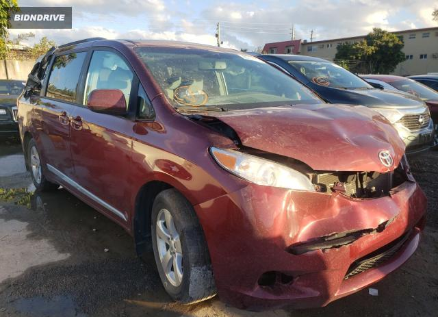 Lot #1633257910 2017 TOYOTA SIENNA LE salvage car
