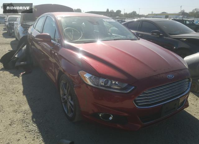 Lot #1639543778 2016 FORD FUSION TIT salvage car