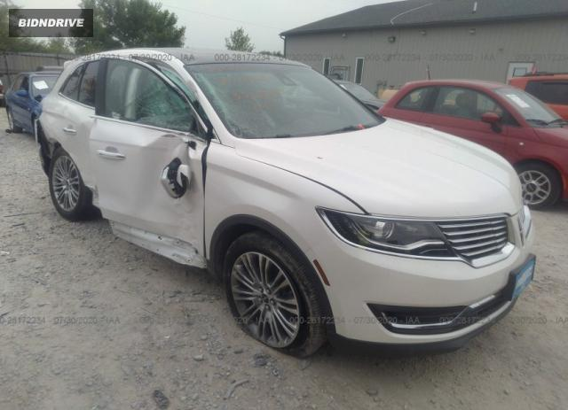 Lot #1640474370 2017 LINCOLN MKX RESERVE salvage car