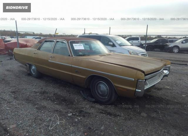 Lot #1640481315 1971 PLYMOUTH FURY 3 salvage car