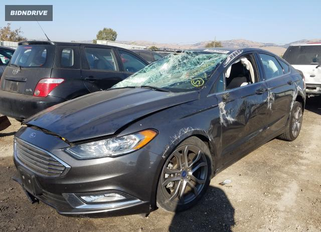 Lot #1653939318 2017 FORD FUSION SE salvage car