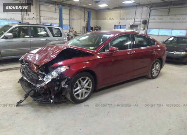 Lot #1657737962 2016 FORD FUSION SE salvage car