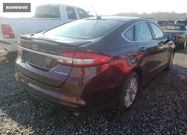 Lot #1659225938 2017 FORD FUSION TIT salvage car