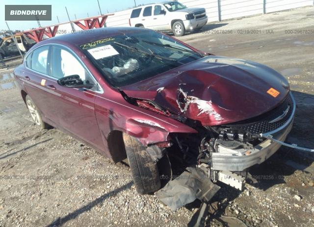 Lot #1677175345 2015 CHRYSLER 200 LIMITED salvage car
