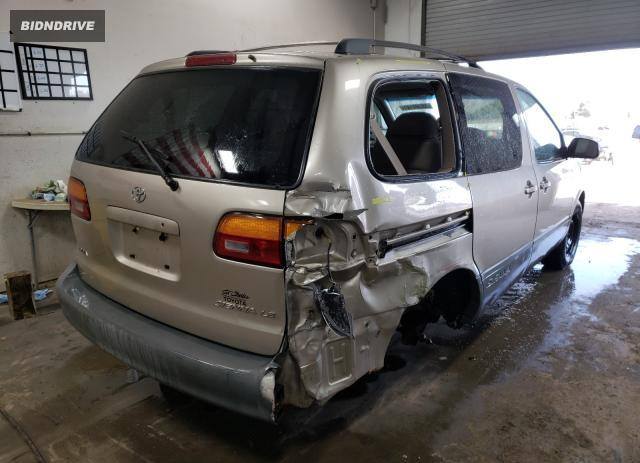 Lot #1680324555 2000 TOYOTA SIENNA LE salvage car