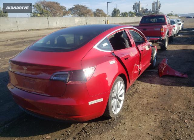 Lot #1680330210 2018 TESLA MODEL 3 salvage car