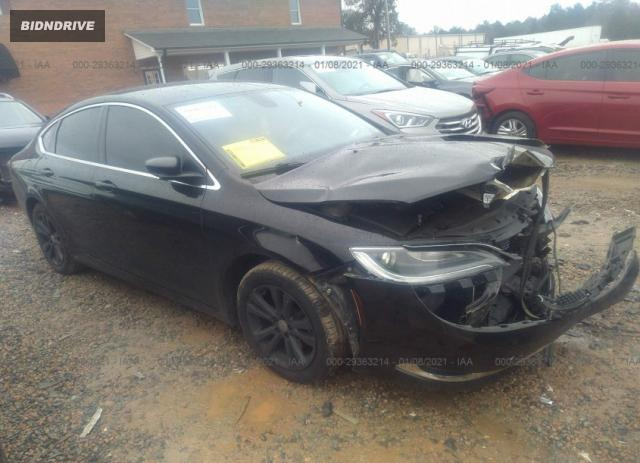 Lot #1681688650 2015 CHRYSLER 200 LIMITED salvage car