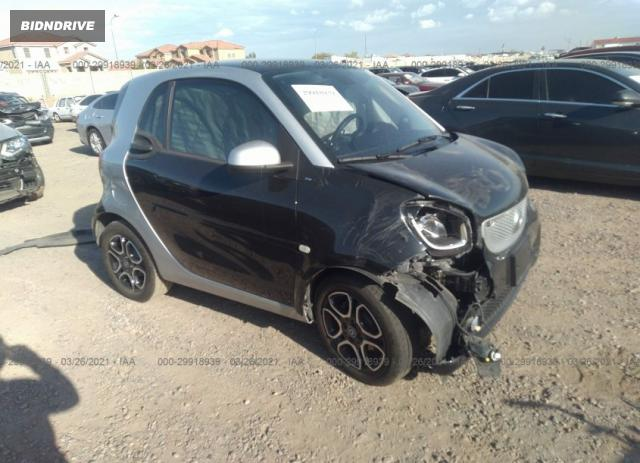 Lot #1681689315 2017 SMART FORTWO PURE/PASSION/PRIME/PROXY salvage car