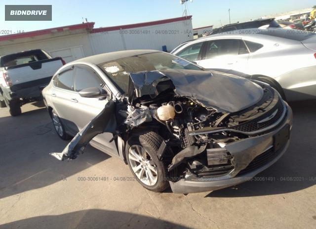 Lot #1682189018 2015 CHRYSLER 200 LIMITED salvage car