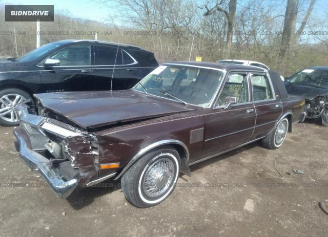 Lot #1691147662 1983 CHRYSLER NEW YORKER FIFTH AVENUE salvage car