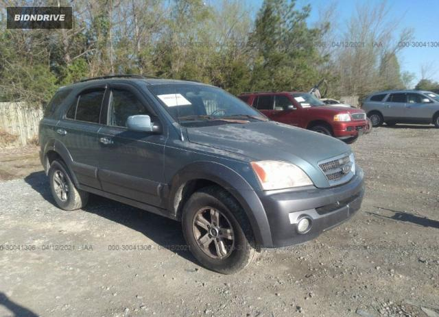 Lot #1691683485 2003 KIA SORENTO LX/EX salvage car