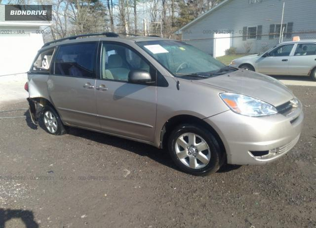 Lot #1694430695 2004 TOYOTA SIENNA CE/LE salvage car