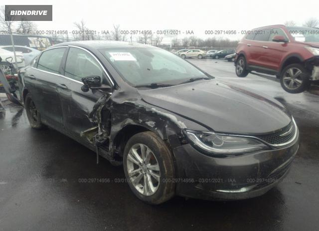 Lot #1694431372 2015 CHRYSLER 200 LIMITED salvage car