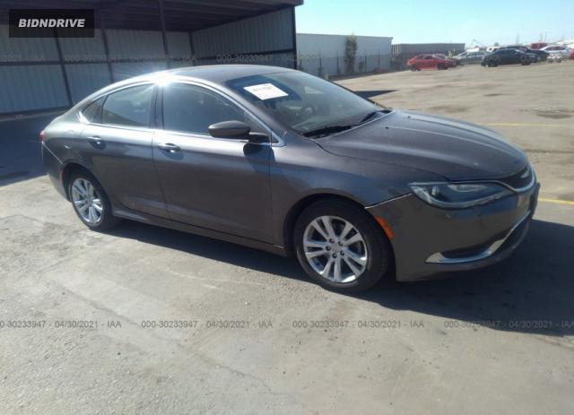 Lot #1694439940 2015 CHRYSLER 200 LIMITED salvage car