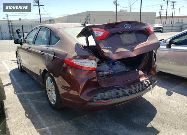 Lot #1733025348 2016 FORD FUSION SE salvage car