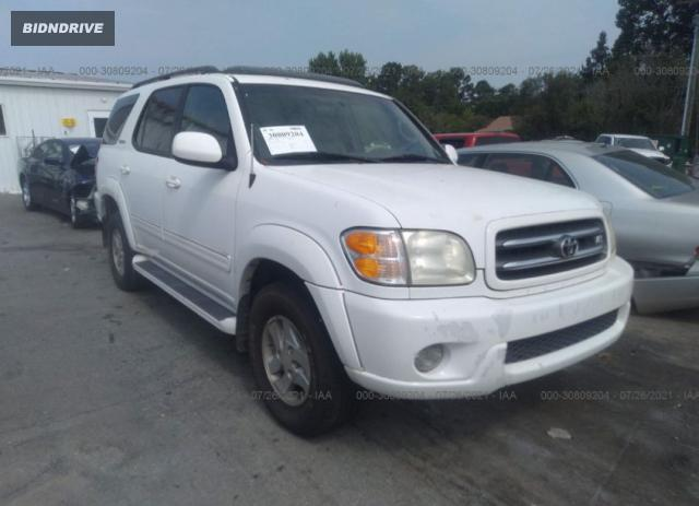 Lot #1738808920 2002 TOYOTA SEQUOIA LIMITED salvage car