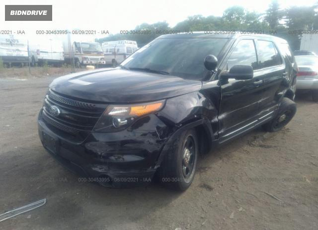 Lot #1761933190 2015 FORD UTILITY POLICE salvage car